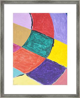 Semi Circles Framed Print by Stormm Bradshaw