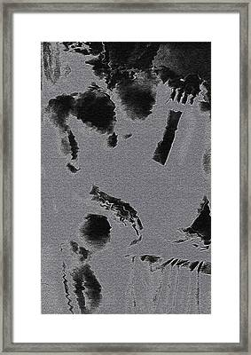 Semi-nude Original Abstract Art Cowboy Framed Print