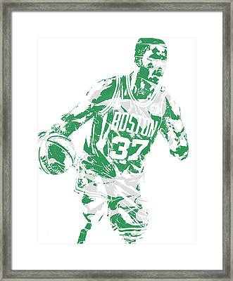 Semi Ojeleye Boston Celtics Pixel Art 2 Framed Print