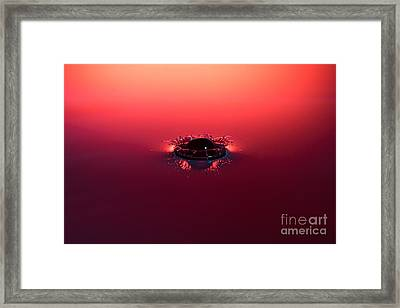 Semi Submerged Droplet Framed Print