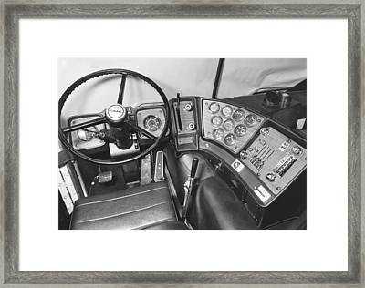 Semi-trailer Cab Interior Framed Print by Underwood Archives