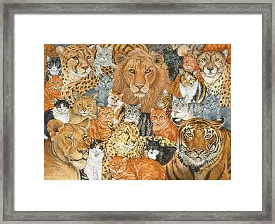 Semi Wild Cat Spread Framed Print by Ditz