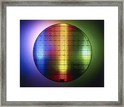 Semiconductor Wafer Framed Print by Pasieka