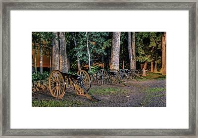 Seminary Ridge Artillery Framed Print by Rob Sellers