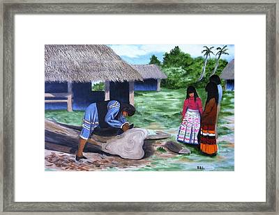 Seminole Canoe Framed Print