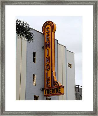 Seminole Theatre 1940 Framed Print by David Lee Thompson