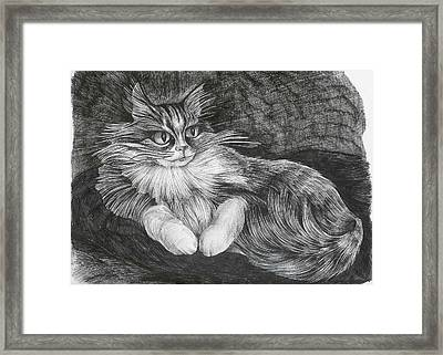 Framed Print featuring the drawing Semona by Anna  Duyunova