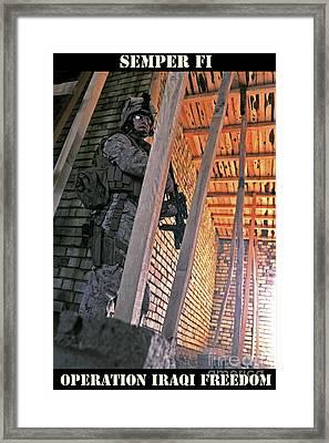 Semper Fi Operation Iraqi Freedom Framed Print by Liesl Marelli