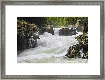 Framed Print featuring the photograph Semuch-champey River And Waterfalls by Yuri Santin