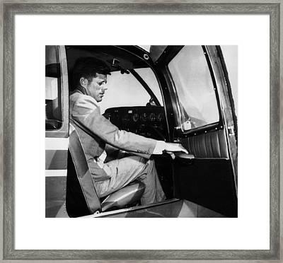 Sen. John Kennedy Returning Framed Print by Everett