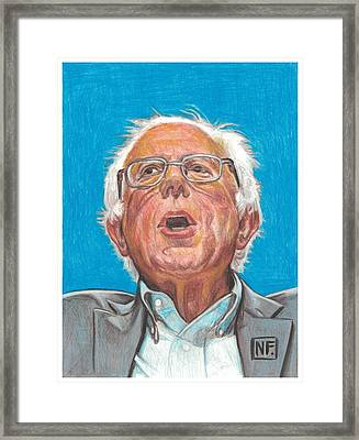 Senator Bernie Sanders  Candidate For The Democratic Nomination For President Of The United States Framed Print by Neil Feigeles