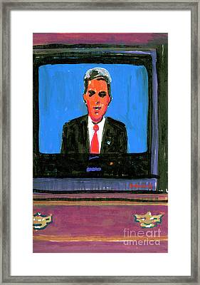 Senator John Kerry Framed Print by Candace Lovely