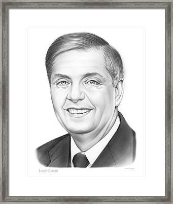 Senator Lindsey Graham Framed Print