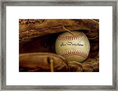 Senators Baseball Framed Print by Francis Sullivan