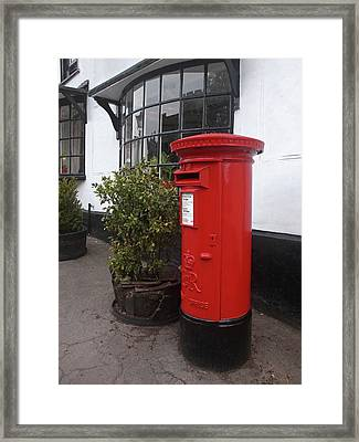 Send A Message Home - Royal Mail Post Box Framed Print by Gill Billington