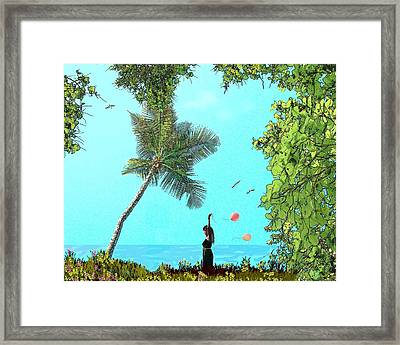 Send Me A Sign Framed Print by Tony Rodriguez