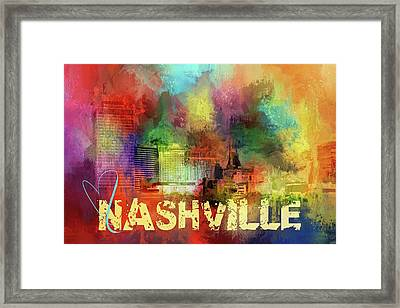 Sending Love To Nashville Framed Print