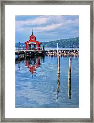 Seneca Lake Harbor Framed Print