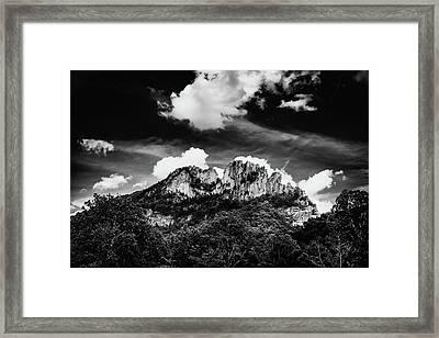 Framed Print featuring the photograph Seneca Rocks II by Shane Holsclaw