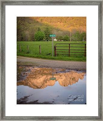 Seneca Rocks Reflection Framed Print by Dr Regina E Schulte-Ladbeck