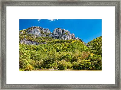 Seneca Rocks Framed Print by Steve Harrington