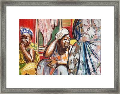 Framed Print featuring the painting Senegal, 1965 by Gary Coleman