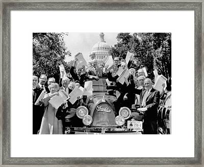 Senior Citizens In Washington. They Framed Print