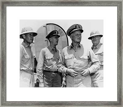 Senior Naval Officers Ww2 - Nimitz, King, Etc. Framed Print by War Is Hell Store