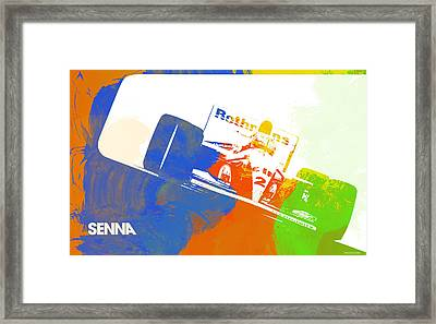 Senna Framed Print by Naxart Studio