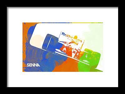 Ayrton Senna Framed Prints