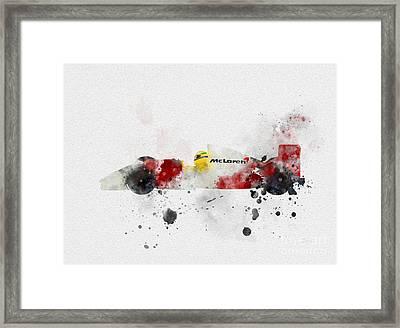 Senna Framed Print by Rebecca Jenkins