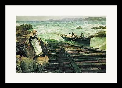 Sennen Cove Digital Art Framed Prints