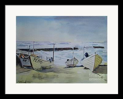 Sennen Cove Paintings Framed Prints