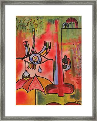 Framed Print featuring the painting Sensation by Sladjana Lazarevic