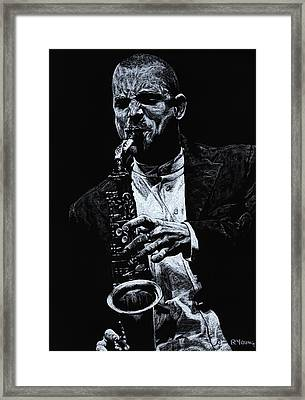 Sensational Sax Framed Print by Richard Young