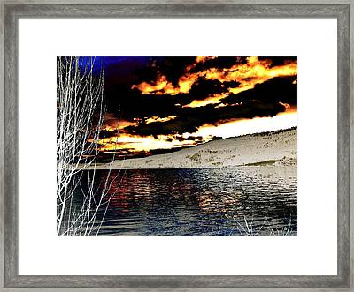 Sensational Winter Sunset Framed Print