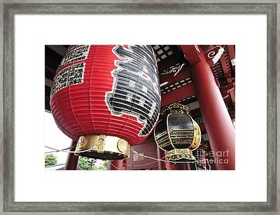Sensoji Lanterns Framed Print by Andy Smy