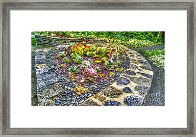 Sensory Garden At Laurelwood Arboretum Framed Print