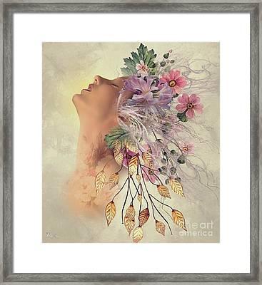 Sensual Flowers Framed Print by Ali Oppy