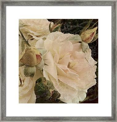 Sensual Kiss Of Yesteryear Framed Print