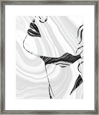 Sensual Portrait Art - Marbled Seduction - Sharon Cummings Framed Print by Sharon Cummings