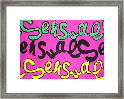Sensual Framed Print