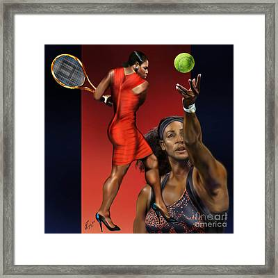 Sensuality Under Extreme Power - Serena The Shape Of Things To Come Framed Print by Reggie Duffie