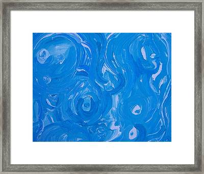 Sensuous Blue Framed Print by Judith Redman