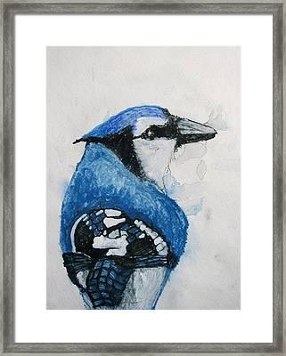 Sentimental Blue Framed Print by Patricia Arroyo