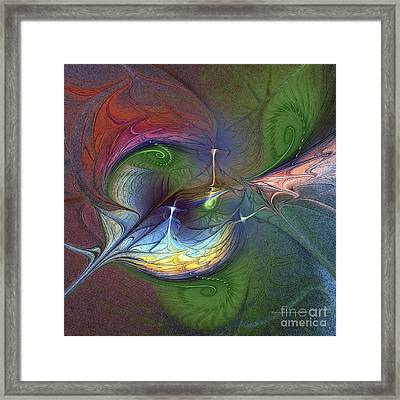 Framed Print featuring the digital art Sentimental Journey by Karin Kuhlmann