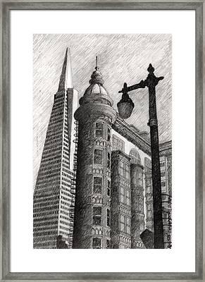 Sentinel Building Framed Print