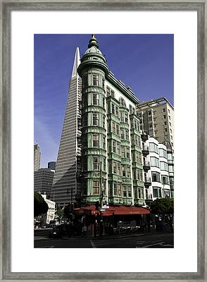 Sentinel Building San Francisco Framed Print by Paul Plaine