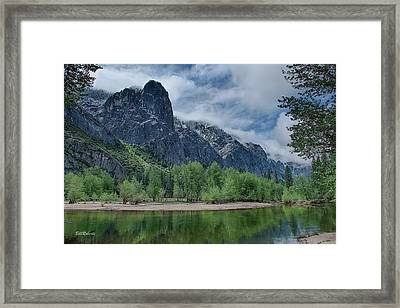 Sentinel Rock After The Storm Framed Print