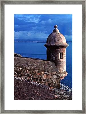 Sentry Box El Morro Fortress Framed Print